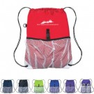 DRAWSTRING SPORT PACK WITH MESH POCKET