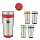COLOR BAND STAINLESS TUMBLER 15oz