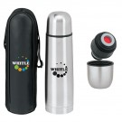 STAINLESS THERMOS WITH CASE 16.9 oz.