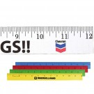 WOODEN ENAMEL RULER 12""