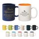 COLORED STONEWARE MUG 11 oz.