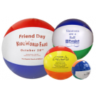 BEACH BALL MULTI COLOR 16""