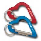 CARABINER PLASTIC HEART KEYHOLDER