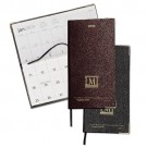 MONTHLY POCKET CALENDAR WITH GOLD CORNERS