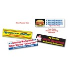 "BUMPER STICKER REMOVABLE 3"" x 11-1/2"""