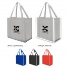 "Reflective Large Non-Woven Grocery Tote Bag 15"" W x 13-3/4"" H x 8"" D"