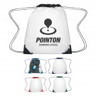 """CLEAR DRAWSTRING BACKPACK 14""""W X 17""""H"""