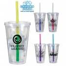 ACRYLIC 16 oz TUMBLER WITH MOOD STRAW